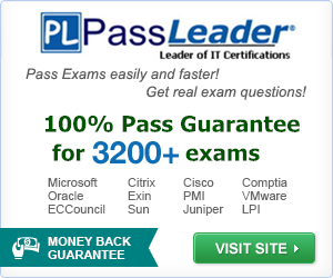 Choose Reliable PassLeader Help Passing Exam